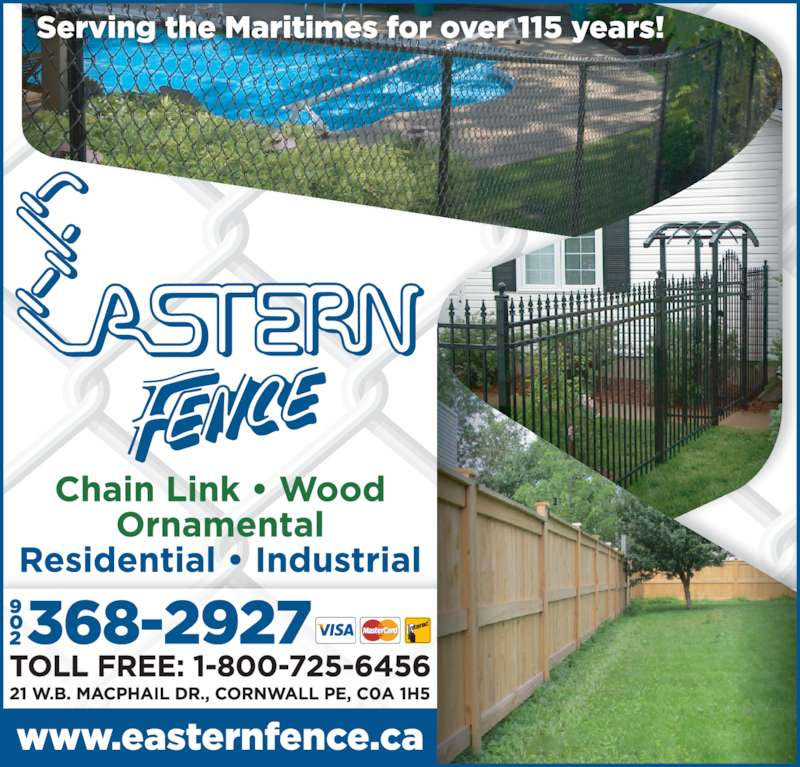 Eastern Fence Limited (902-368-2927) - Display Ad -