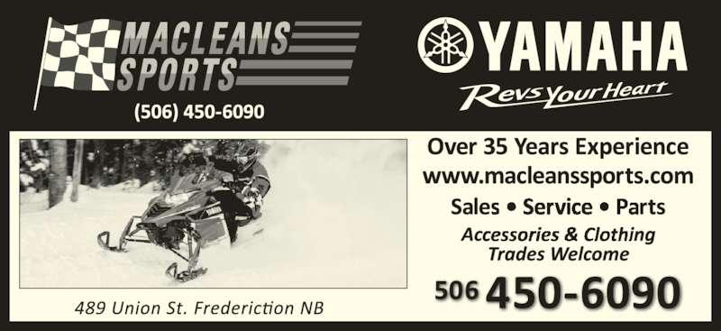 Maclean Sports Ltd Facsimile Service Fredericton Nb