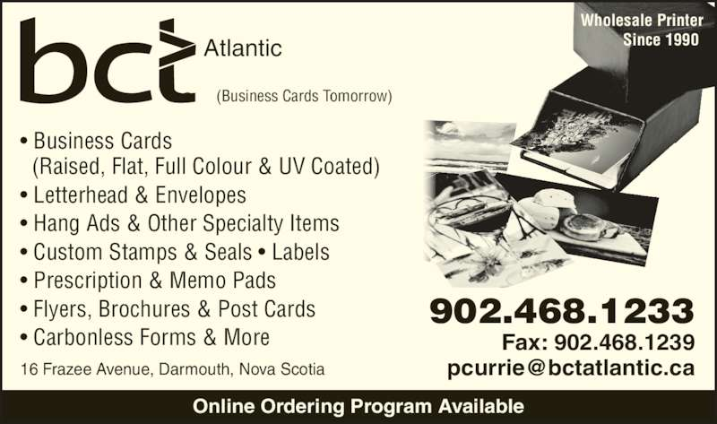 Business Cards Tomorrow Dartmouth NS 16 Frazee Ave