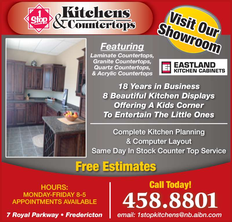 Stop Kitchens Countertops Fredericton Nb