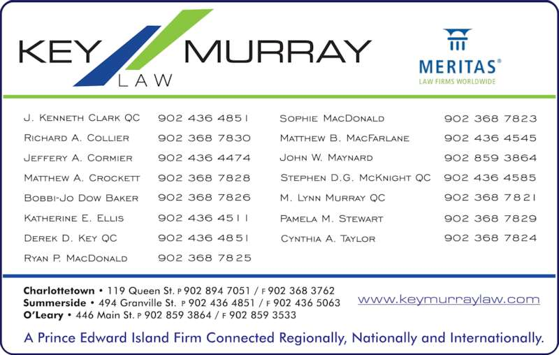 Key Murray Law (902-894-7051) - Display Ad -
