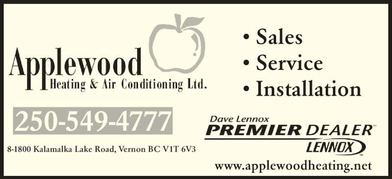 Applewood Heating Amp Air Conditioning Ltd Vernon Bc 8