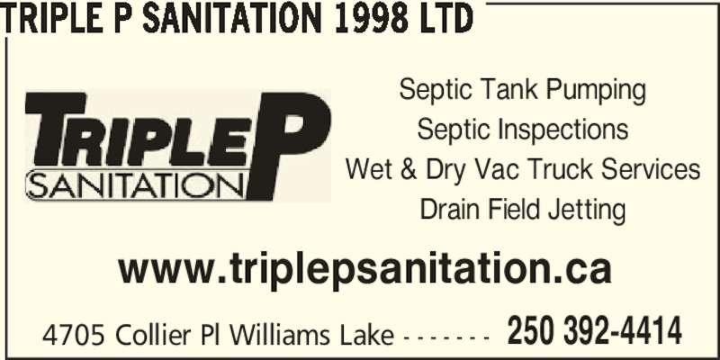 Triple P Sanitation 1998 Ltd Williams Lake Bc 4705