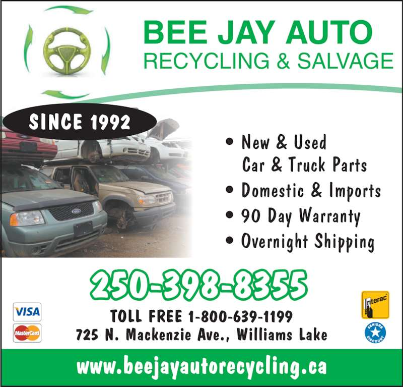 Bee Jay Auto Recycling Amp Salvage Williams Lake Bc 725