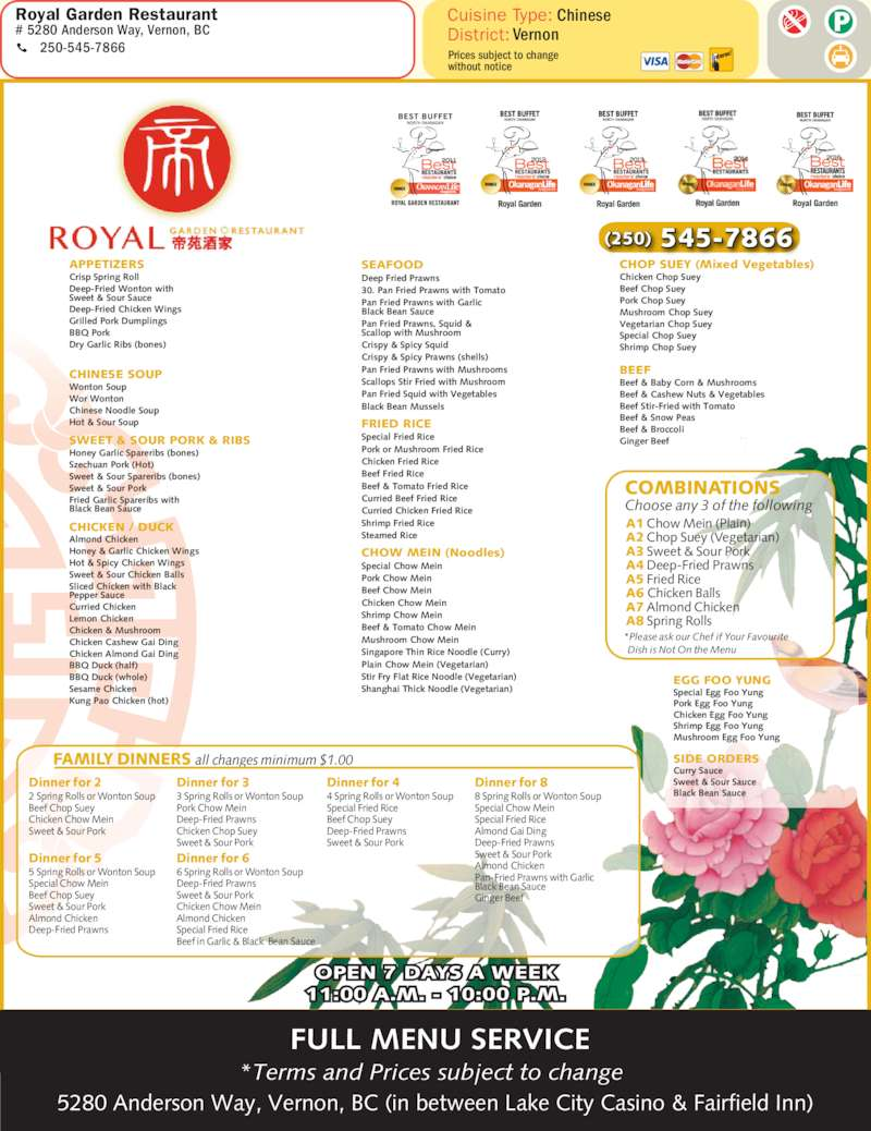 Chinese Food In Vernon Bc Take Out