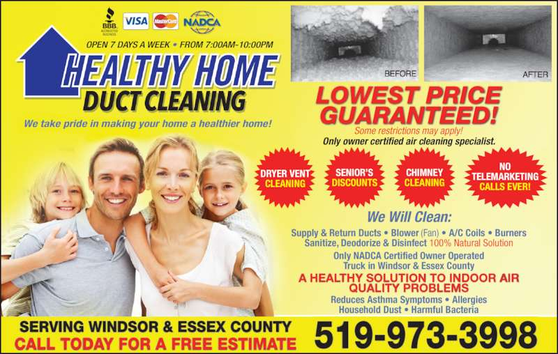 Healthy Home Duct Cleaning 48 Sunnyside Windsor On