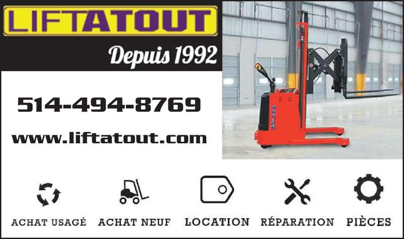 Lift Atout (514-494-8769) - Annonce illustrée======= - 514-494-8769 www.liftatout.com