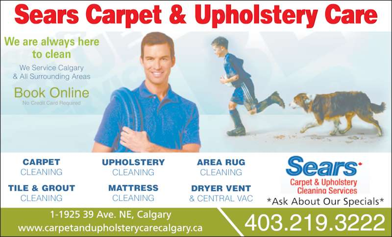 Sears Carpet Amp Upholstery Cleaning Services Opening