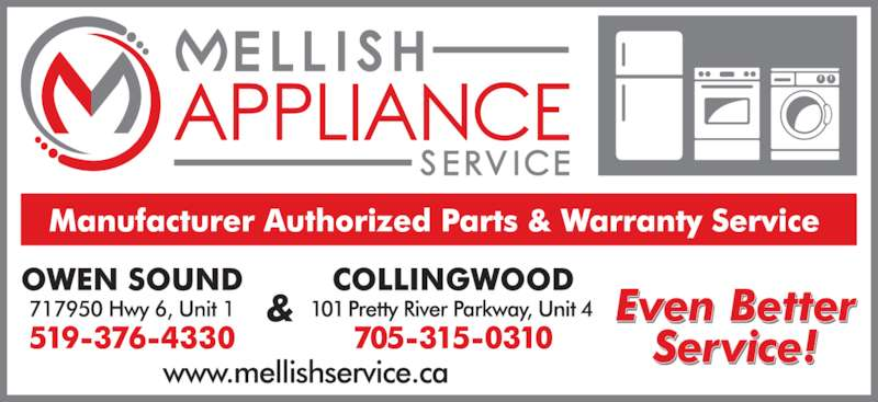 Mellish Appliance Service Opening Hours 1 717950 Hwy 6