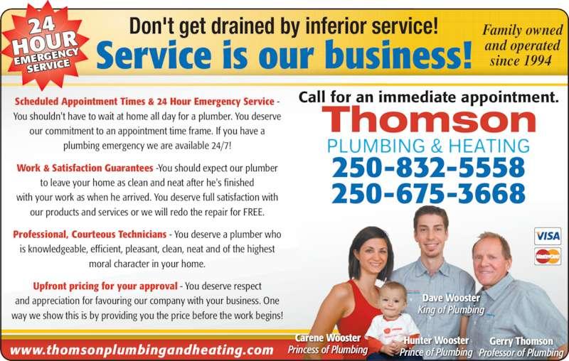 Thomson Plumbing Amp Heating Opening Hours 1611 2 Ave Ne