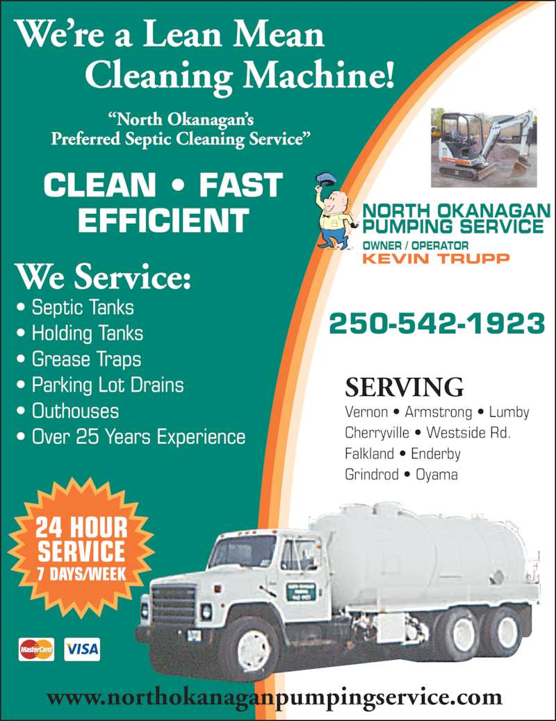 north okanagan pumping service opening hours po box 321 stn north okanagan pumping service 250 542 1923 display ad clean