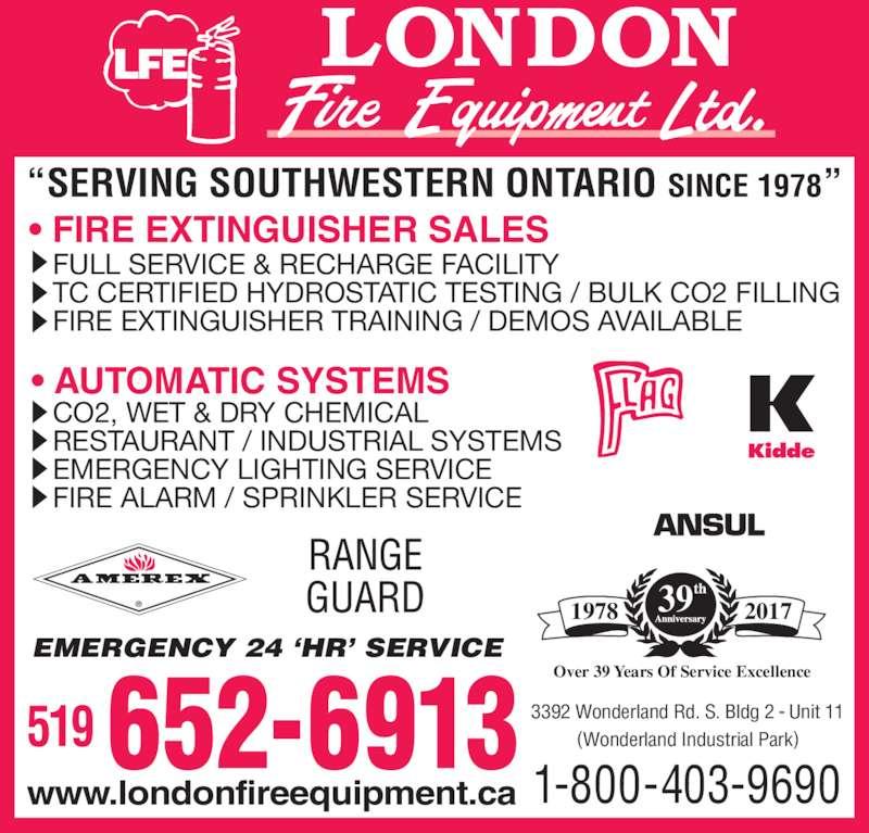 London Fire Equipment Ltd Opening Hours 3392