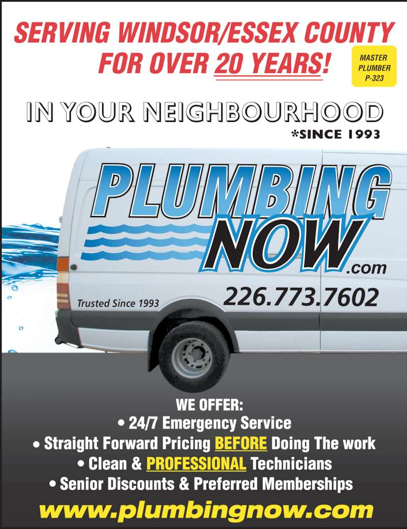 Plumbing Now Opening Hours 4255 Seventh Concession Rd