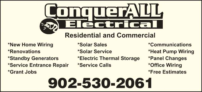 ConquerAll Electrical (902-530-2061) - Display Ad - 902-530-2061