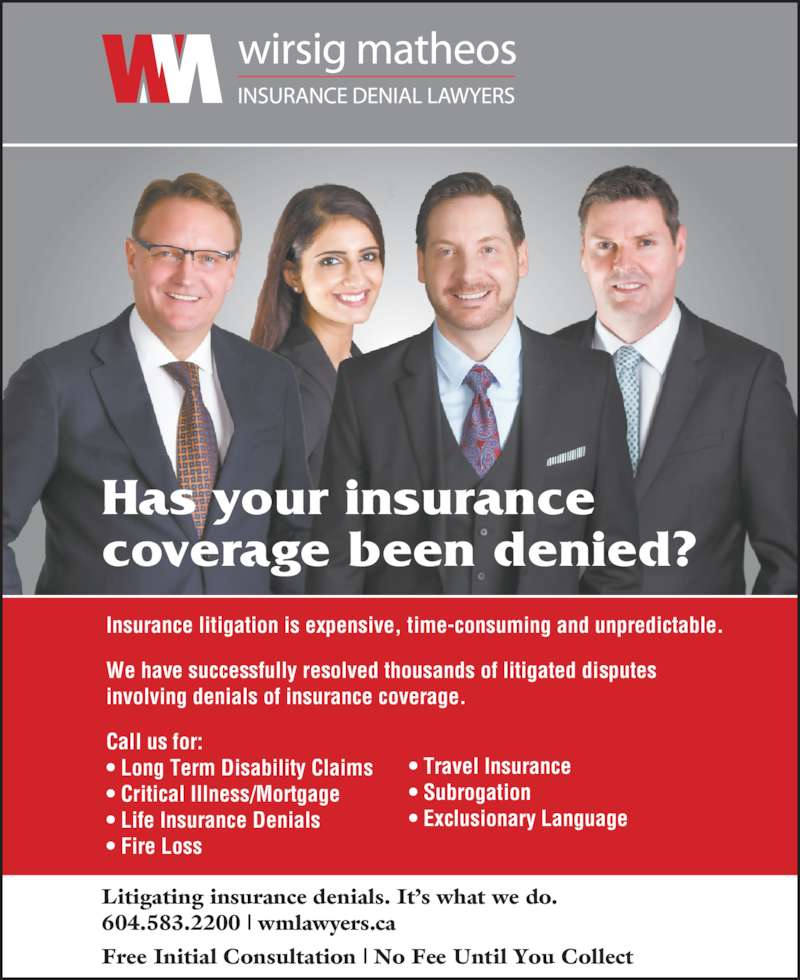 Car Accident Port Coquitlam: Wirsig Matheos Insurance Denial Lawyers