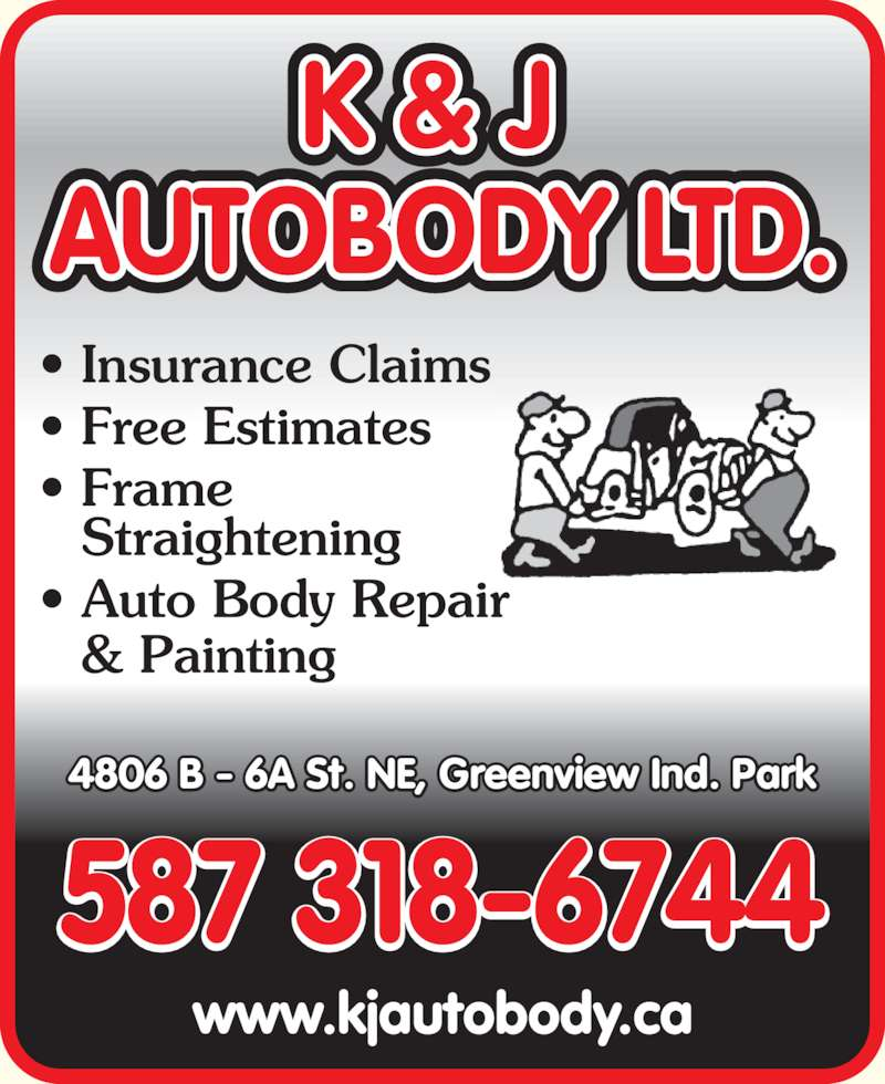 Auto Body Repair Cost Estimator: K & J Autobody Ltd