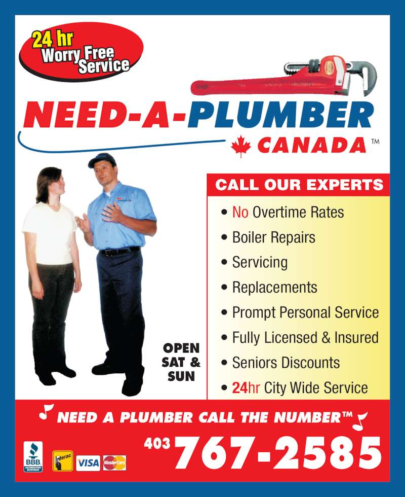 Need A Plumber Canada Opening Hours 10b 416 Meridian