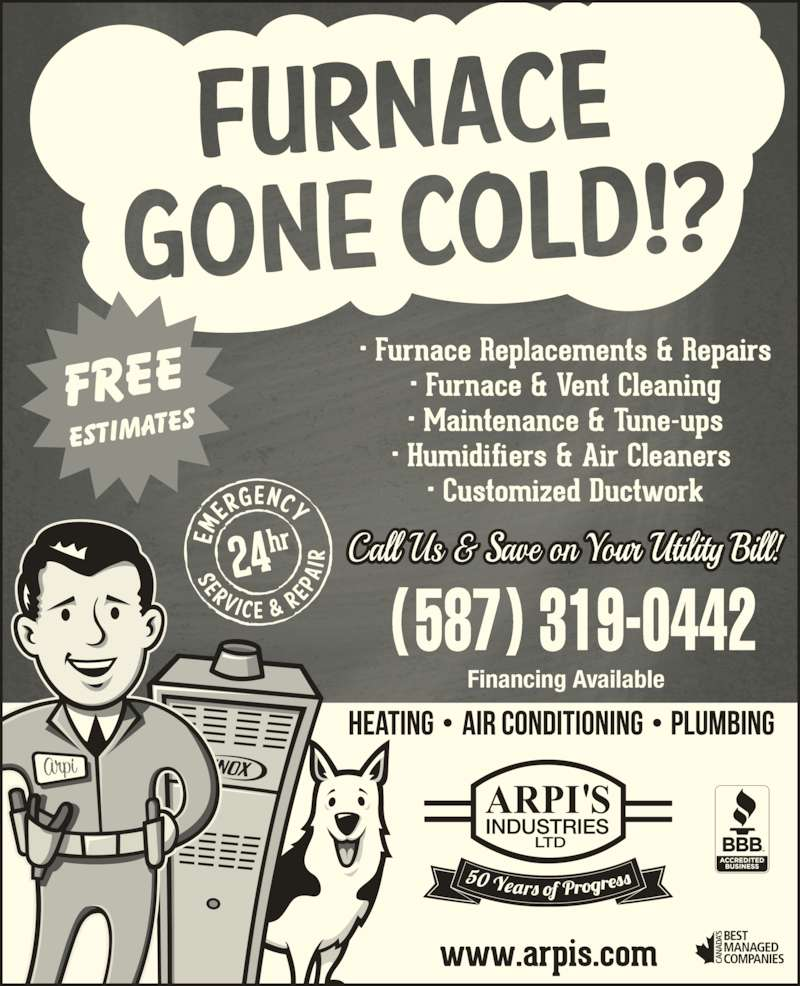 Arpi's Industries Ltd (403-236-2444) - Display Ad - Financing Available (587) 319-0442