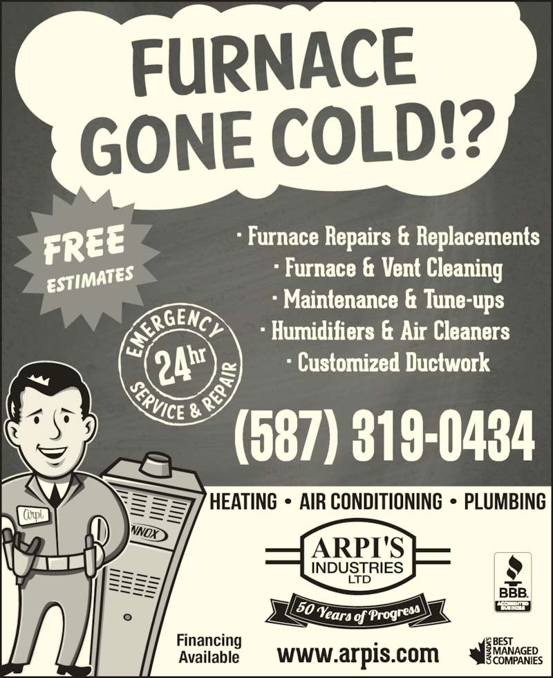 Arpi's Industries Ltd (403-236-2444) - Display Ad - Financing Available (587) 319-0434