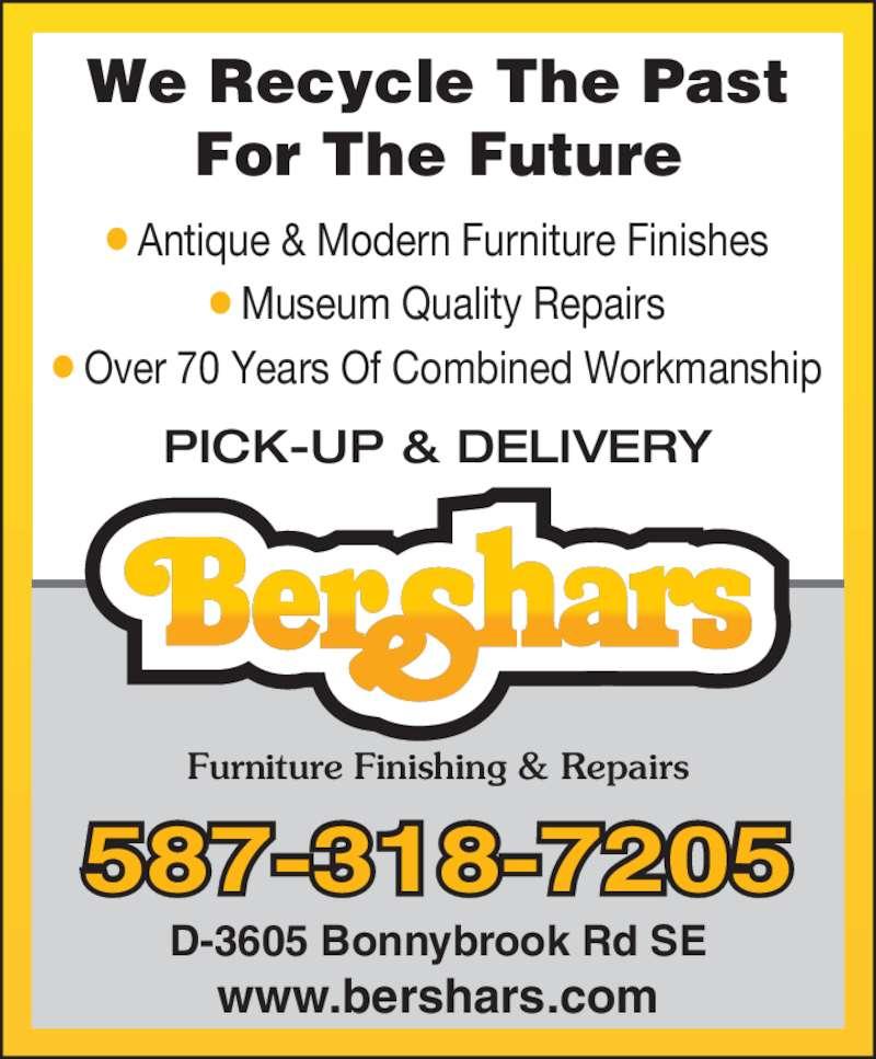 Bershars Furniture Finishing Amp Repairs Calgary Ab