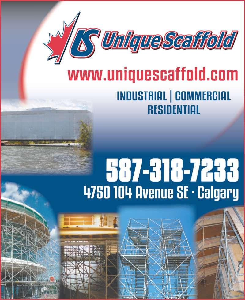 Unique Scaffold Inc (403-203-3422) - Display Ad -