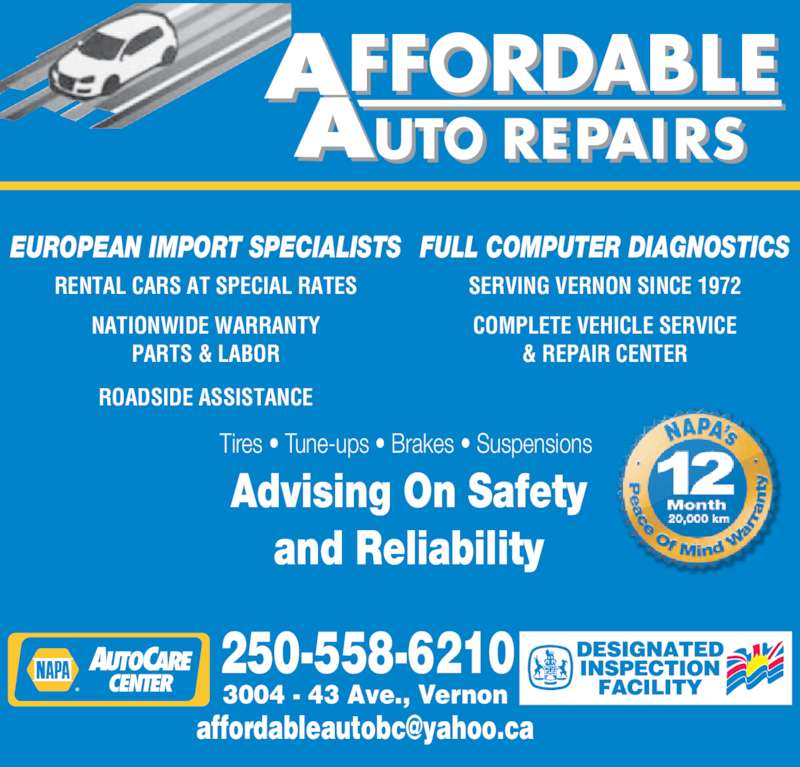 Affordable auto repairs opening hours 3004 43 ave for Garage europe auto center fresnes