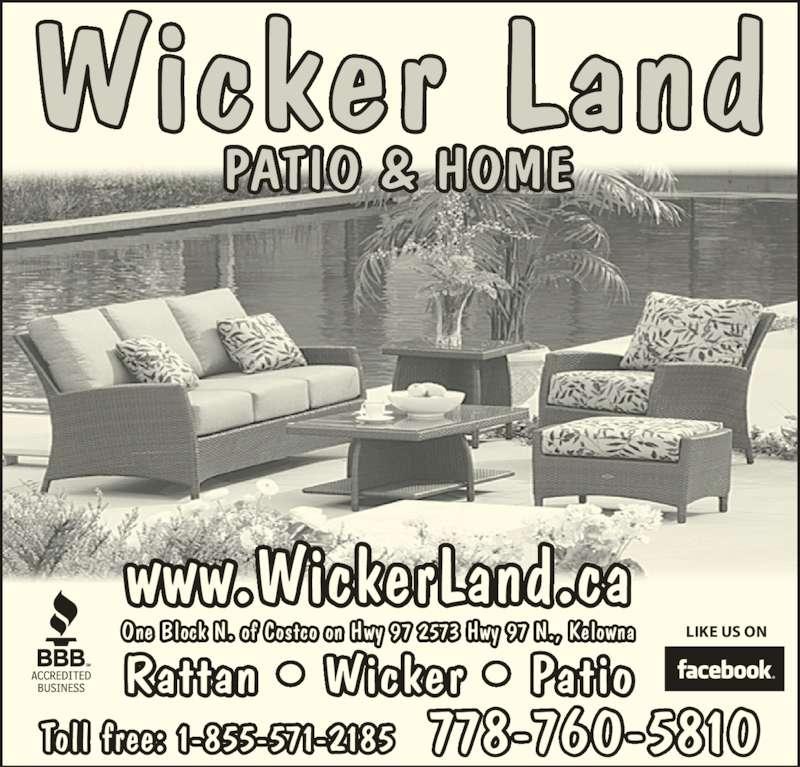 Wicker Land Patio & Home Kelowna BC 2573 Hwy 97 N