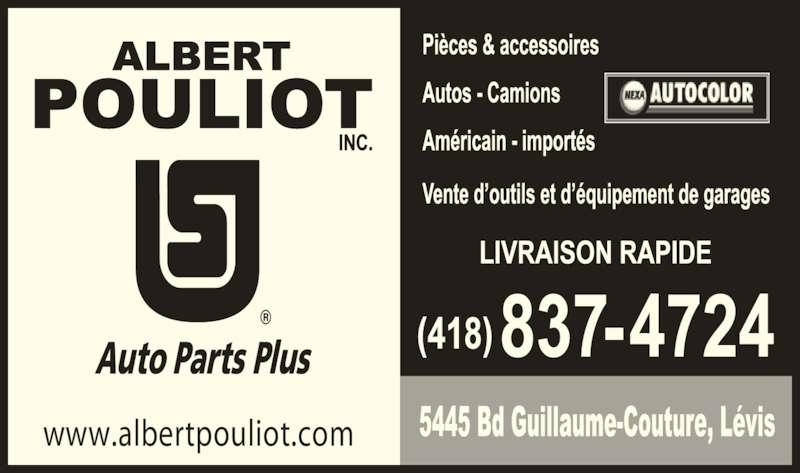 Pouliot albert inc auto parts plus l vis qc 5445 boul for A plus motors inc
