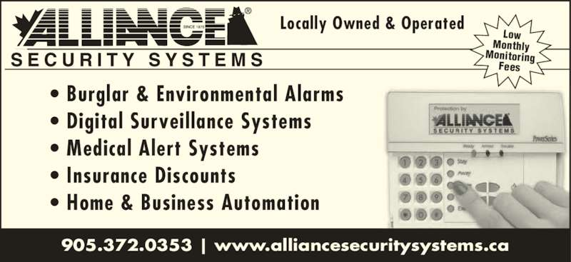 Alliance Security Systems Of Northumberland Cobourg On