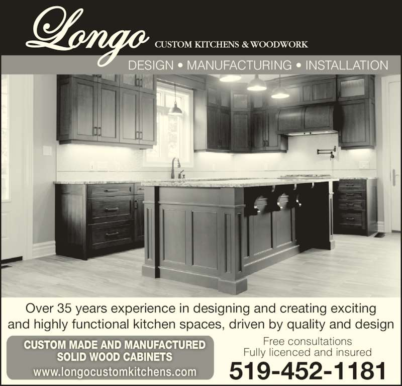 Longo Custom Kitchens 47 Charterhouse Cres London On
