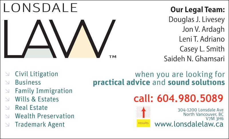 Lonsdale Law (604-980-5089) - Display Ad - results