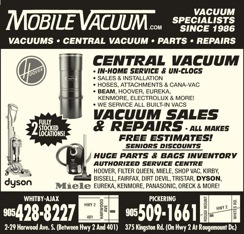 Mobile Vacuum Opening Hours 375 Kingston Rd Pickering On