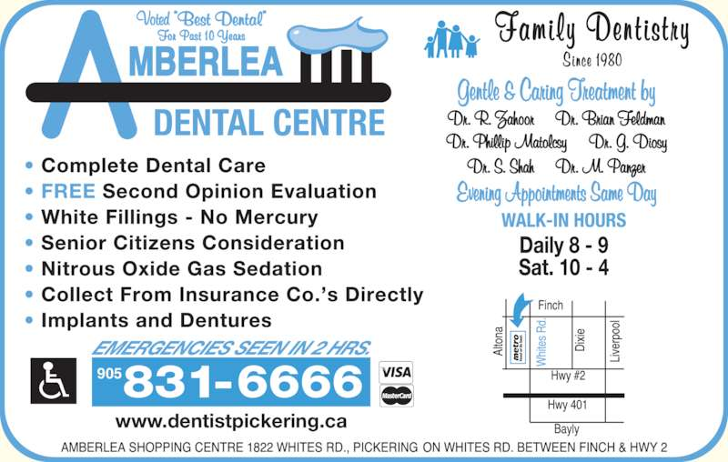 Amberlea Dental Centre (905-831-6666) - Display Ad - 905 www.dentistpickering.ca