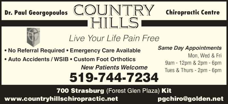 Country Hills Chiropractic Centre Opening Hours 700