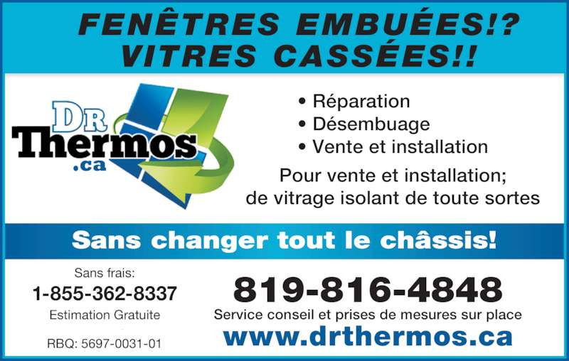 Dr thermos canpages fr for Porte fenetre futura laval