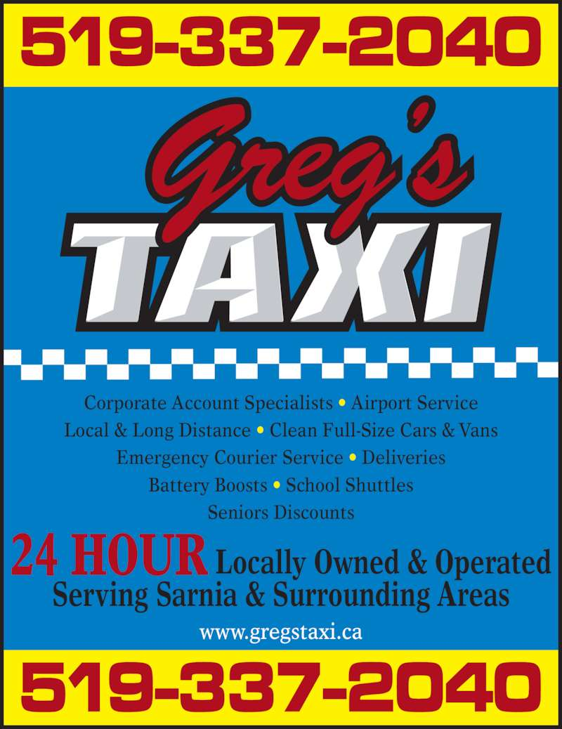 Greg S Taxi Sarnia On 768 Campbell St Canpages