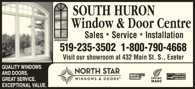 South Huron Window Amp Door Centre Exeter On 432 Main