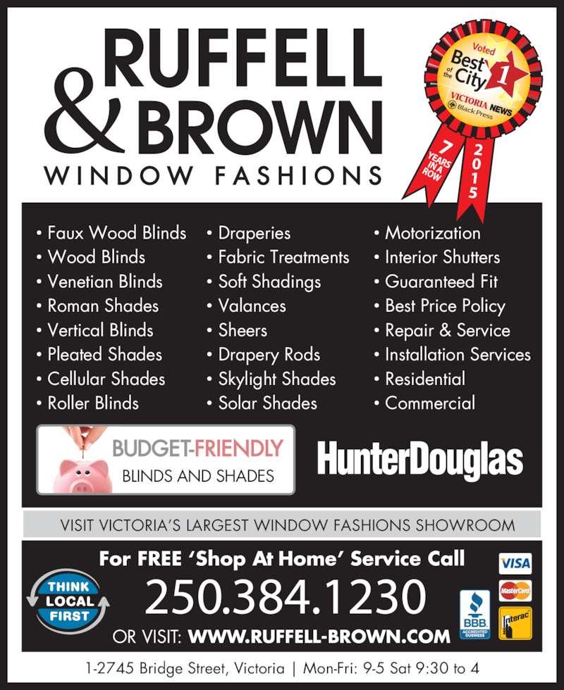 Ruffell Brown Window Fashions Victoria Bc