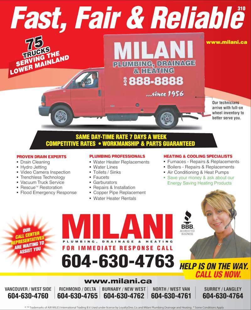 Milani Plumbing Drainage Amp Heating Opening Hours 209