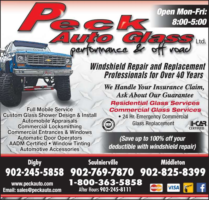 Peck Auto Glass Performance Amp Off Road Digby Ns 163