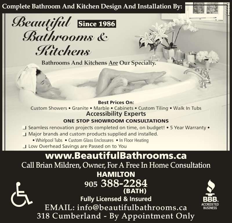 Kitchen Renovation Hamilton Ontario: Beautiful Bathrooms & Kitchens