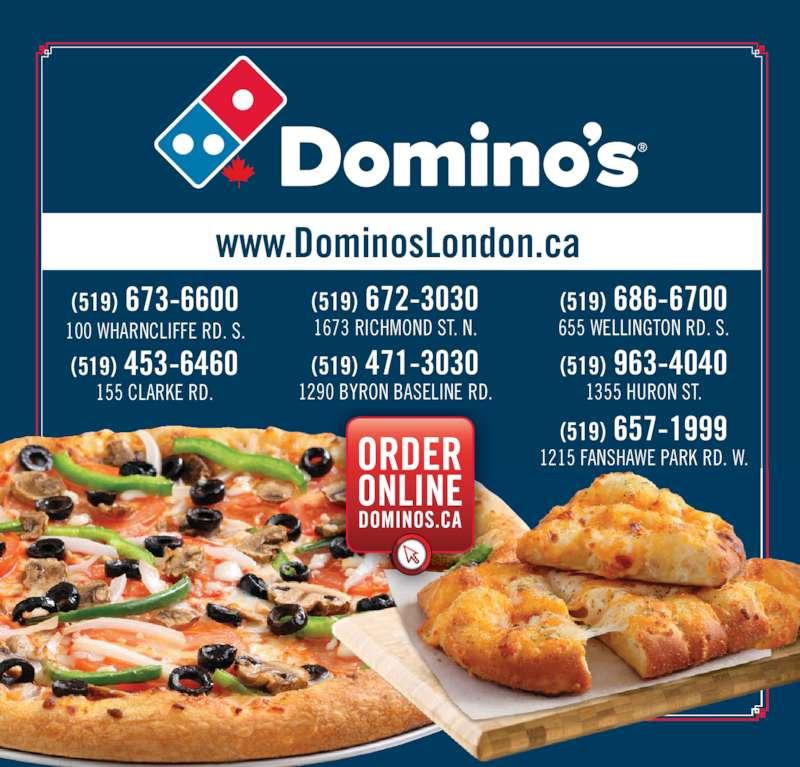 Domino's Pizza (519-673-6600) - Display Ad -