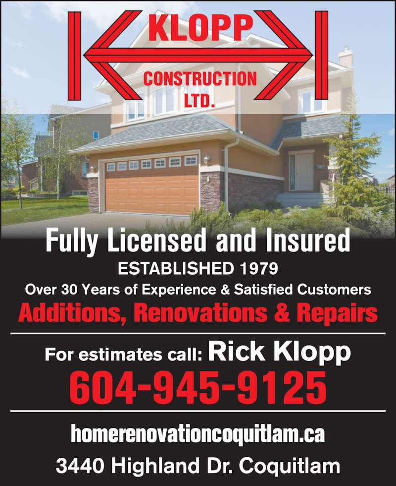 Bathroom Renovations Coquitlam: Klopp Construction Ltd