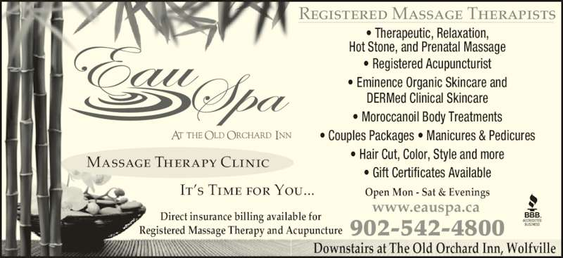 Eau Spa At The Old Orchard Inn