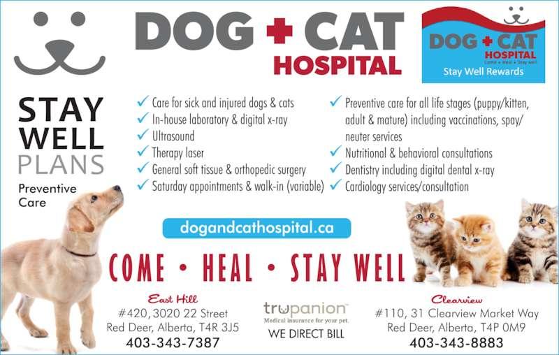 East Hill Dog & Cat Hospital (403-343-7387) - Display Ad -