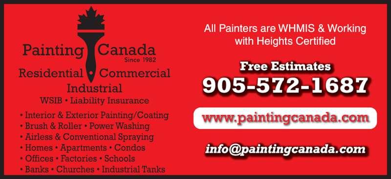 Painting Canada (905-572-1687) - Annonce illustrée======= -