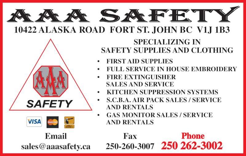 aaa safety opening hours 10219a alaska rd fort st john bc. Black Bedroom Furniture Sets. Home Design Ideas