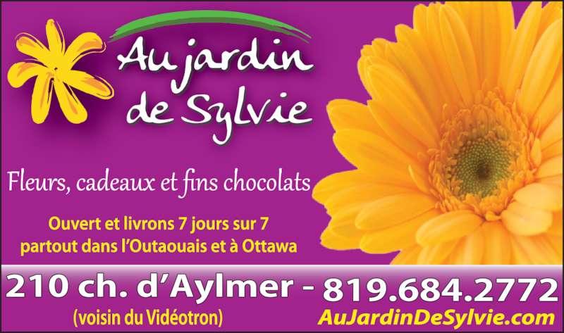 Au Jardin De Sylvie (819-684-2772) - Annonce illustrée======= -