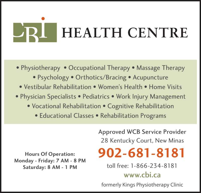 Kings Physiotherapy Clinic Ltd (902-681-8181) - Display Ad -