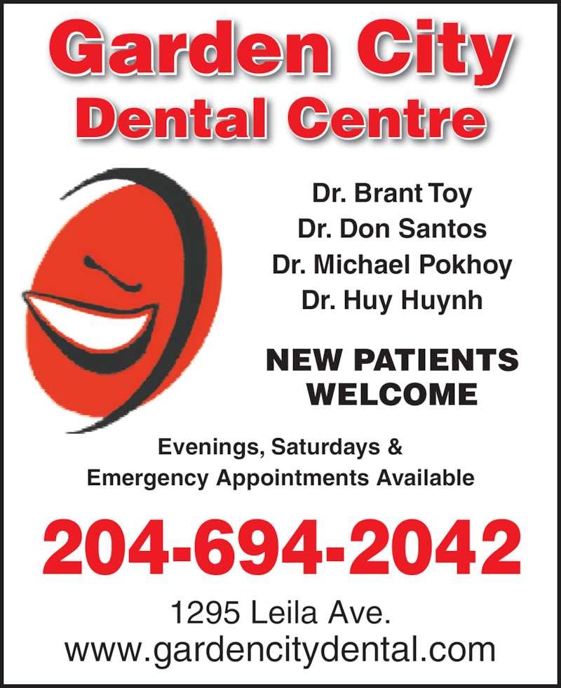 Garden City Dental Centre Winnipeg Mb 1295 Leila Ave